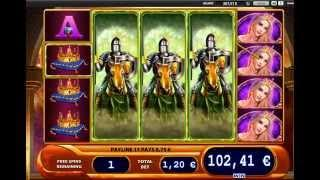 Black Knight 2 Slot (WMS) - Freespins Feature with 3 Exteended Wilds   Big Win