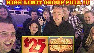• HIGH LIMIT GROUP PULL • $25 DENOM • DOUBLE TOP DOLLAR • WHEEL OF FORTUNE •