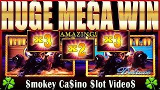 $$► BUFFALO Deluxe Slot HUGE MEGA BONUS WIN!!! - Aristocrat ◄$$