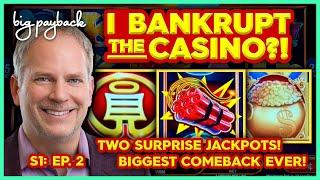 2 SURPRISE JACKPOTS! I Bankrupt the Casino?! S1: Ep. 2 | Hollywood Gaming Mahoning Valley