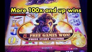 More 100x + Buffalo Gold slot machine big wins
