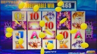 Aristocrat's Buffalo Deluxe Slot Machine - Nice Bonus Win From 1st Play At Rampart