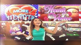 •$620,000 Thousand Dollar Bonus Jackpot Handpay Casino Video Slot Max More Hearts, Hearts Of Venice