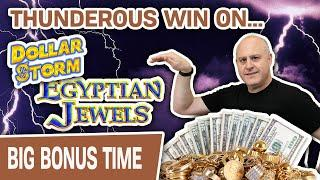 ⋆ Slots ⋆ THUNDEROUS WIN with DOLLAR STORM: Egyptian Jewels ⋆ Slots ⋆ High-Limit Slot Machine Handpay