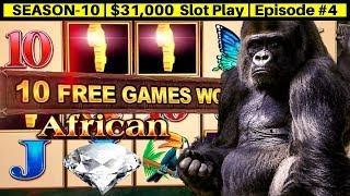 High Limit AFRICAN DIAMOND Slot Machine $20 Bet Bonus & Live Play | Season 10 | Episode #4