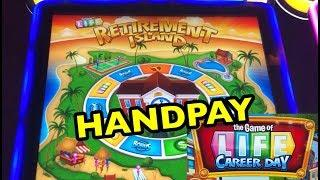 NEW SLOT: HANDPAY ON GAME OF LIFE CAREER DAY