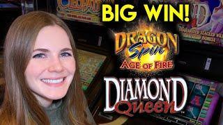 Diamond Queen Slot Machine! FINALLY A BIG WIN!! Nice Run of BONUSES!!
