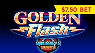 Golden Flash Slot - $7.50 Max Bet - NICE BONUS!
