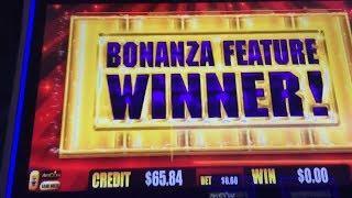 BIG WIN - Gold Bonanza Slot Machine Bonus - Bonanza Feature & Line Hit