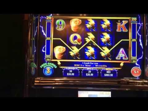 Ainsworth Thunder Cash HANDPAY JACKPOT high limit $20 bet