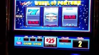 High Limit Wheel of Fortune Slot Machine $50 a Pull Spin