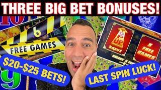 ⋆ Slots ⋆ HIGH LIMIT Dragon Link, Huff N' Puff & Rising Fortunes $17-$25 BETS & BONUSES! EEEEE! ⋆ Sl