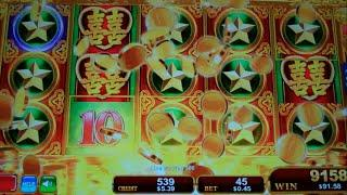 Dragon's Law Twin Fever Slot Machine Bonus + HUGE Line Hit - Free Games Win w/ Random Wilds (#2)