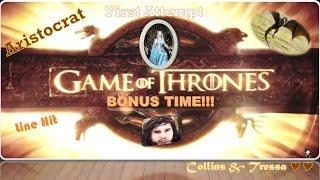 •First Attempt•  Aristocrat Game of Thrones • Slot Machine Bonuses