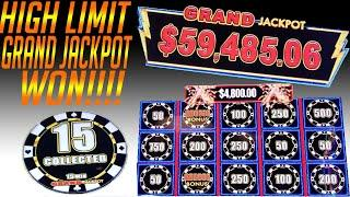 "•️•️•️ 1st on YT!! HIGH LIMIT SLOT ""GRAND"" JACKPOT on LIGHTNING LINK! My First $50k+ HANDPAY! •️•️•️"