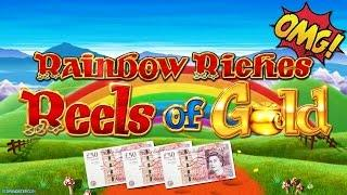 Rainbow Riches Reels of Gold £50 Spins - Bookies Slot Machine