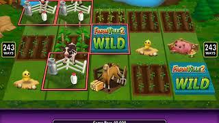 FARMVILLE 2 Video Slot Game with a WATER WELL FREE SPIN BONUS