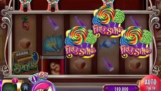 """WILLY WONKA: CANDY MAN CAN Video Slot Casino Game with a """"BIG WIN"""" FREE SPIN BONUS"""