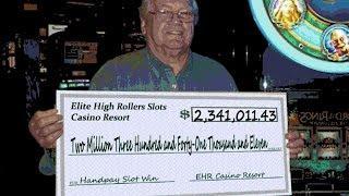 •$2,341,011.43 Win• Cashout Vegas High Roller Casino Video Slot Machine Jackpot Handpay, Aristocrat