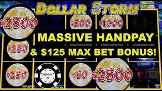 •️MASSIVE HANDPAY DOLLAR STORM NINJA MOON •️ALSO $125 MAX BET BONUS ON CARIBBEAN GOLD •️SLOT MACHINE