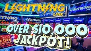 •Lightning Link $10,000 JACKPOT!!! • Raja WIN$ Over 10k on High Stakes • | The Big Jackpot