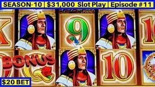 High Limit Dollar Chief Slot Machine $20 Bet Bonus & Live Slot Play | Season 10 | Episode #11