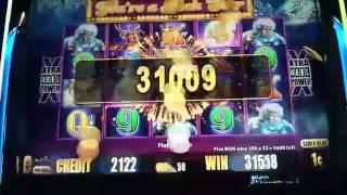 HUGE BIG WIN - Timber Wolf Deluxe Slot Machine Bonus - Retrigger