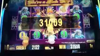HUGE BIG WIN - Timber Wolf Deluxe Slot Machine Bonus - Retrigger