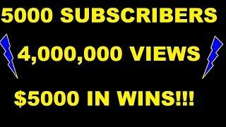 •5000 SUBSCRIBER SPECIAL• OVER $5000 IN SLOT WINS!!!