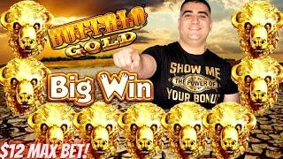 Buffalo Gold Slot Machine BIG WIN | Pelican Pete Slot Machine BIG WIN | Live Slot Play At Casino !