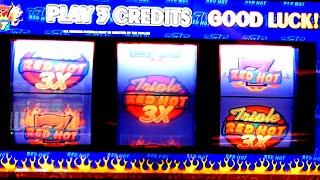 Triple Red Hot 777 Slot Machine Play