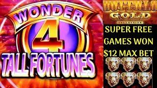 $12 Max Bet BUFFALO GOLD SUPER FREE GAMES Won | 5 Dragons Gold Slot, Wild Lepre'Coins Slot Live Play