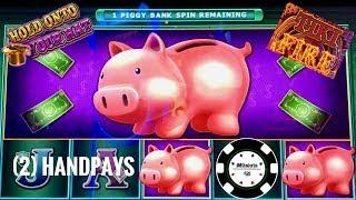 •LOCK IT LINK HOLD ONTO YOUR HAT & PIGGY BANKIN'•LIGHTNING LINK & ULTIMATE FIRE LINK (2) HANDPAYS