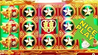 Dragon's Law Twin Fever Slot Machine •NICE WIN• Live Konami Slot Play!