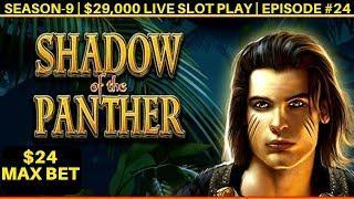 High Limit Shadow Panther Slot Machine Max Bet Bonus - Great Session   Season 9   Episode #24