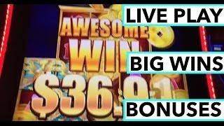 BIG WINS!!! LIVE PLAY and Bonuses on 5 Dragon's Grand Slot Machine