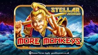 Big Win Slot Machine Stellar Jackpots with more Monkeys from SlotFruity