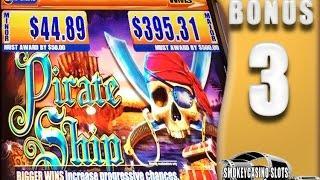 3 ~ Pirate Ship Slot Machine Bonus WMS