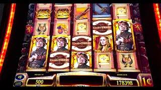 "NEW ""GAME OF THRONES"" Slot (MANY FEATURES) - DEMO @ G2E & ARISTOCRAT"