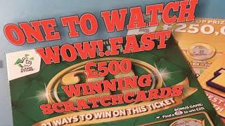 •Do Not Miss•winners on•FAST 500•&•Super 21 GREEN•Scratchcards....Night time•classic