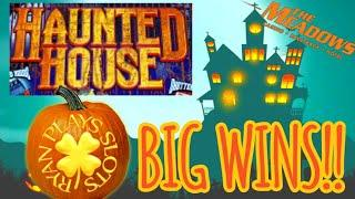 • Haunted House Slot Machine • Huge Wins • Big Bonus Rounds •