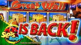 GREAT WALL IS BACK !!! PLAY & BONUSES 1c WMS Video Slot
