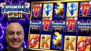 • 8 FREE GAMES • THUNDER CA$H JACKPOT!!! •