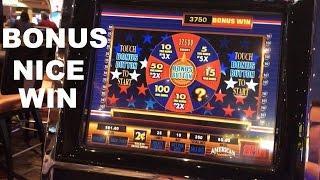 American Original live play $5.00 bet with Bonus and NICE WIN Slot Machine