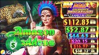 ++NEW Amazon Goddess slot machine, with Hot Roll Golden Dice Progressives