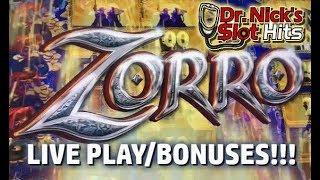 **ZORRO TO THE RESCUE?!?** Live Play with Bonuses!!!