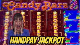 FIRST JACKPOT HANDPAY ON NEW GAME-CANDY BARS 2