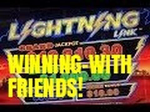 WINNING WITH FRIENDS-LIGHTNING LINK SLOT MACHINE-LIVE PLAY