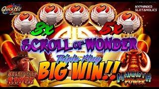 •NEW DELIVERY• SCROLL OF WONDER Slot Bonuses BIG WIN