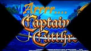 Captain Cutthroat Slot Machine Bonus - MANY Retriggers! ~ Aristocrat